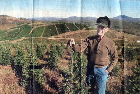 "Sam Cartner's Fraser Fir business at Cartner Farms in Newland, N.C.. "" - Cartner Christmas Tree Farm A Feeling For Firs"